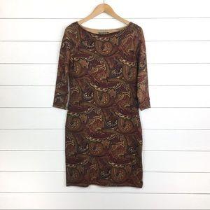 NWT Lauren Ralph Lauren Paisley Dress